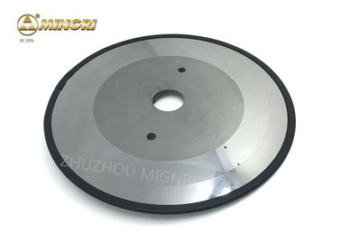 China Round 2 Holes Carbide Cutting Disc , Carbide Slitter With Polished Surface supplier