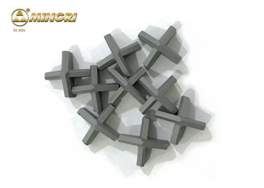 Four Heads Cemented Tungsten Carbide Tips MR600 Grade For Coal Mining