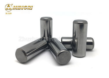 High Strength Grinding / Polished Tungsten Carbide HPGR Pins / Buttons / Studs For Iron Ore Mining Crushing